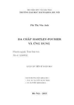 Luận án Đa chập hartley - Fourier và ứng dụng (chuyên ngành: Toán giải tích)