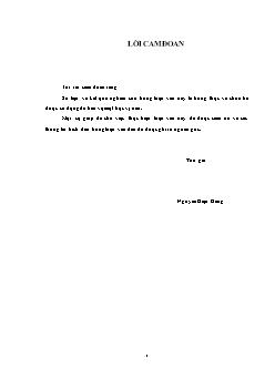 Luận văn Chuyển dịch cơ cấu lao động ở quận Sơn Trà, thành phố Đà Nẵng trong tiến trình công nghiệp hóa, hiện đại hóa