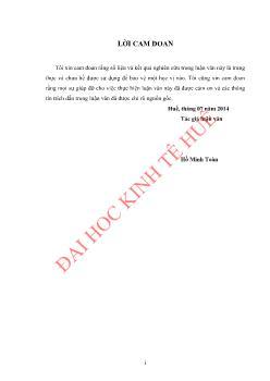 Luận văn Đánh giá sự hài lòng của người lao động ở công ty cổ phần 1 - 5 Thừa Thiên Huế