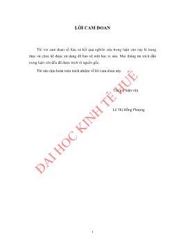 Luận văn Giải quyết việc làm cho thanh niên tại Khu kinh tế Vũng Áng huyện Kỳ Anh, tỉnh Hà Tĩnh