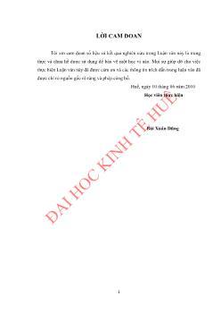 Luận văn Hoàn thiện công tác quản trị nguồn nhân lực tại Công ty Lâm công nghiệp Bắc Quảng Bình