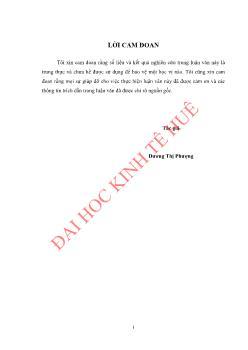 Luận văn Việc làm cho lao động nông thôn huyện Lệ Thủy, tỉnh Quảng Bình