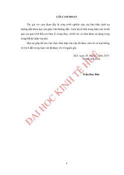 Luận văn Việc làm cho người lao động vùng gò đồi ở thị xã Hương Thủy, tỉnh Thừa Thiên Huế