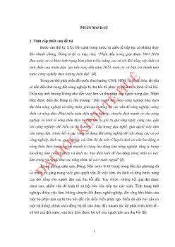 Luận văn Việc làm và thu nhập của người nông dân sau thu hồi đất ở thị xã Hương Trà, tỉnh Thừa Thiên Huế