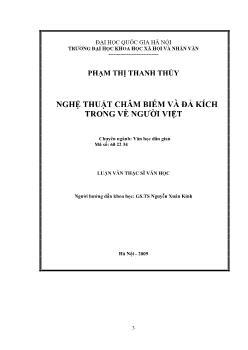 Tóm tắt Luận văn Nghệ thuật châm biếm và đả kích trong vè người Việt