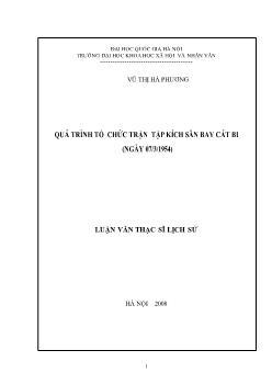 Tóm tắt Luận văn Quá trình tổ chức trận tập kích sân bay Cát Bi (ngày 07/3/1954)