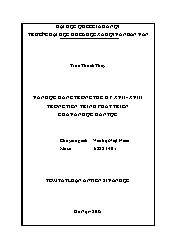 Tóm tắt Luận văn Văn học Đàng trong thế kỷ XVII - XVIII trong tiến trình phát triển của văn học dân tộc