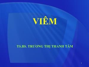 Bài giảng Viêm - Trương Thị Thanh Tâm
