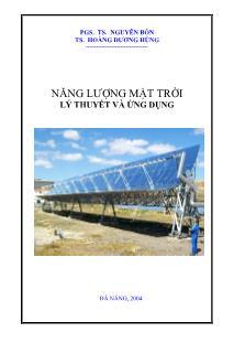 Giáo trình Năng lượng mặt trời lý thuyết và ứng dụng (Phần 1)