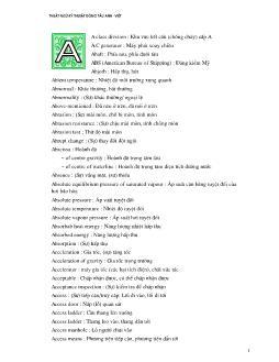 Từ điển đóng tàu (Phần 1)